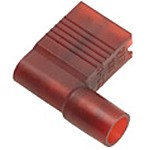 """Fully Insulated Flag Terminal Double Crimp Female Red 3/16"""" Tab"""