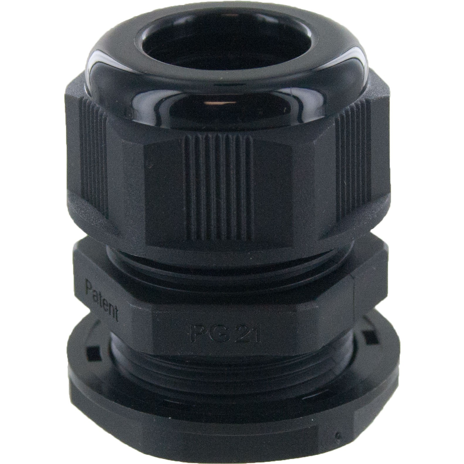 Nylon Dome Cap Cable Gland PG21 Black