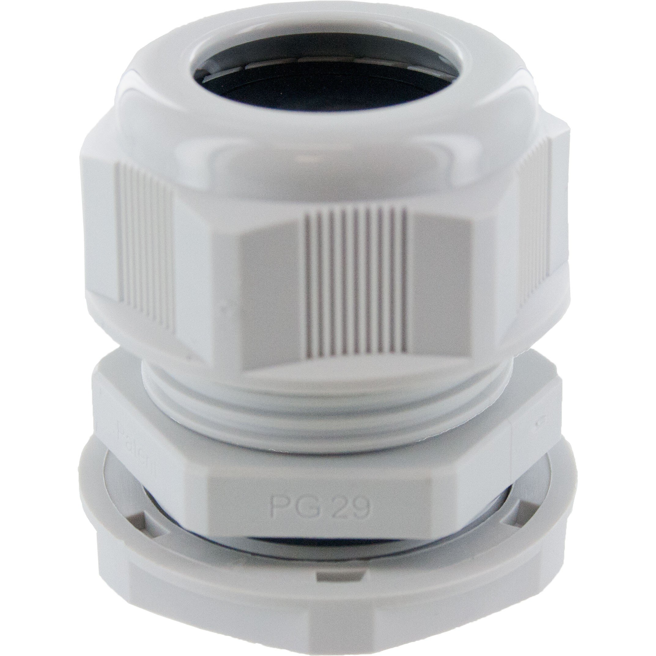 Nylon Dome Cap Cable Gland PG29 Gray