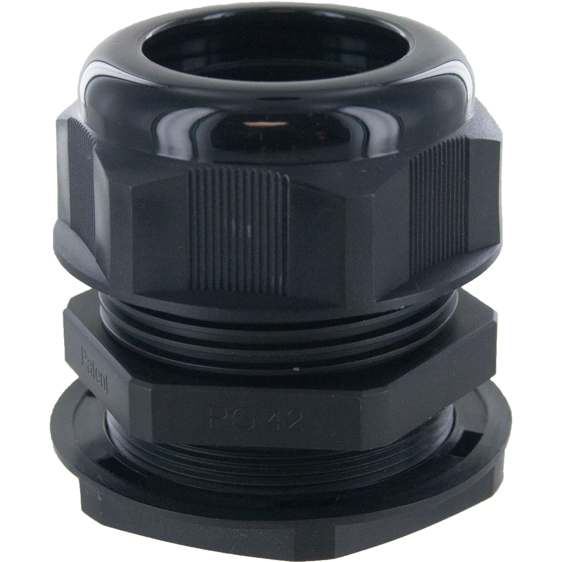 Nylon Dome Cap Cable Gland PG42 Black