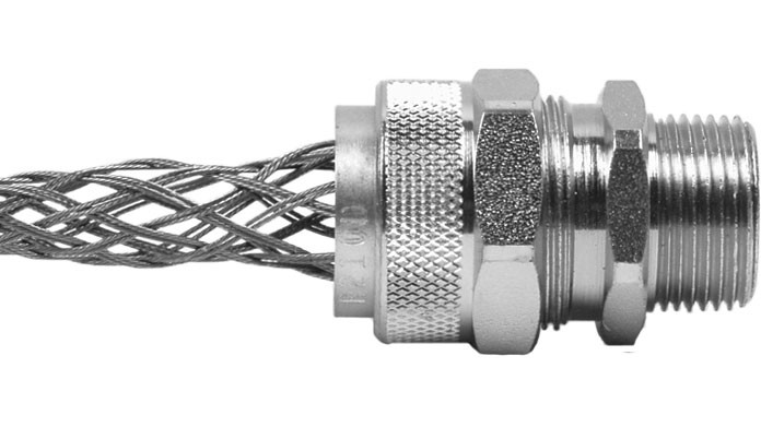 "Aluminum Cord Grip 1/2"" .500-.562"" With Mesh RSR-1209-E"