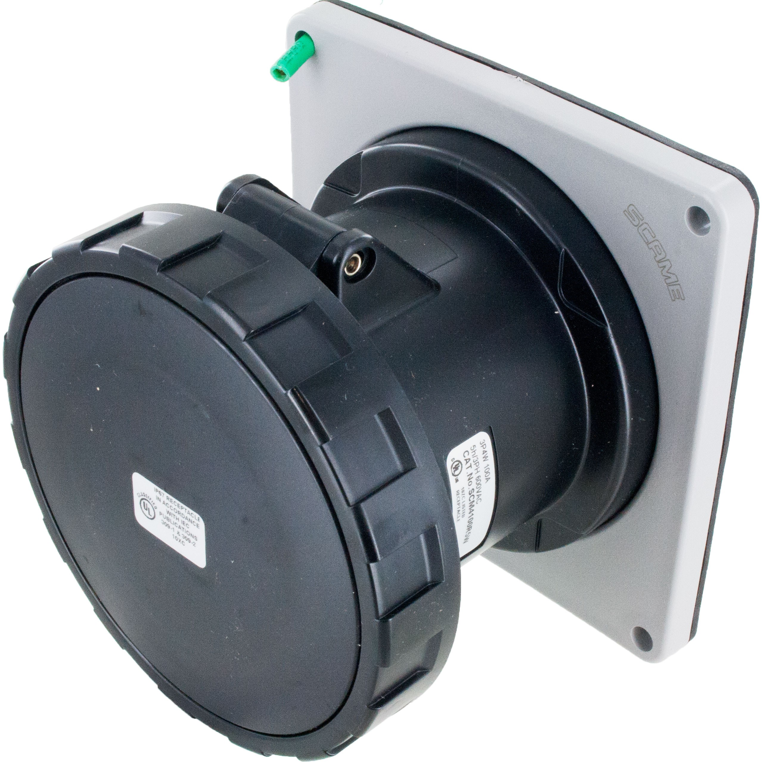 4100R5W Pin And Sleeve Receptacle 100 Amp 3 Pole 4 Wire