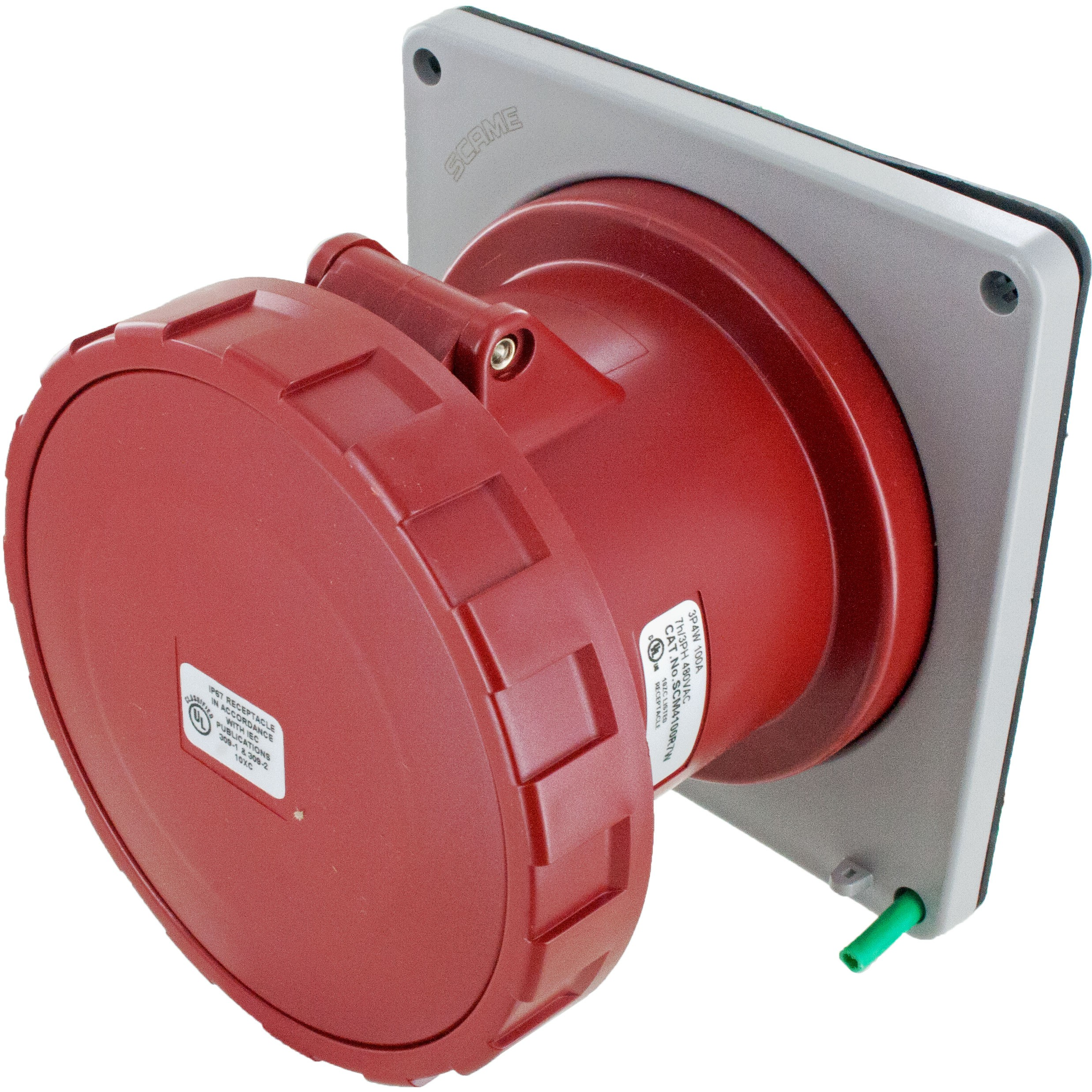 4100R7W Pin And Sleeve Receptacle 100 Amp 3 Pole 4 Wire