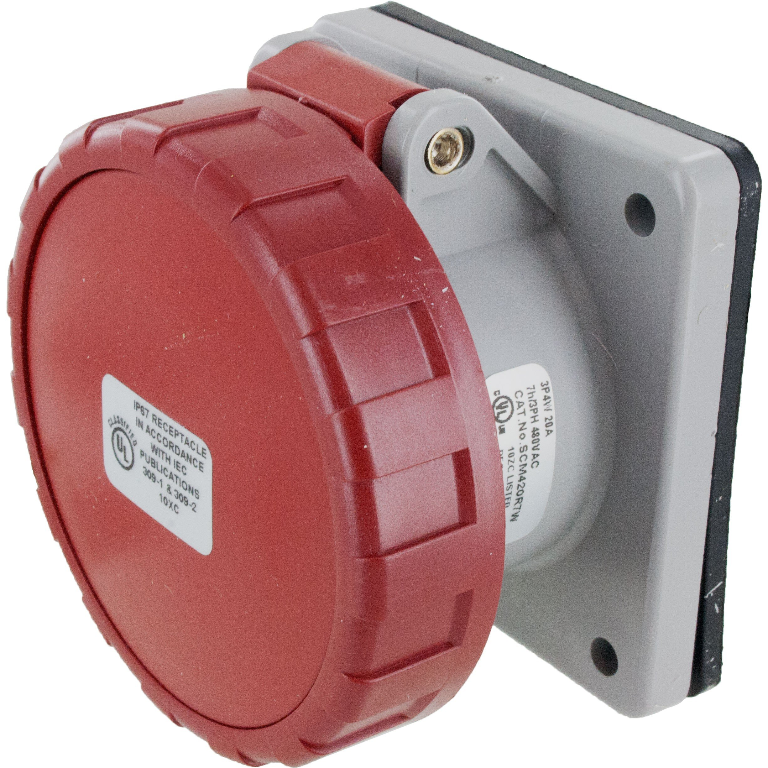 420R7W Pin And Sleeve Receptacle 20 Amp 3 Pole 4 Wire