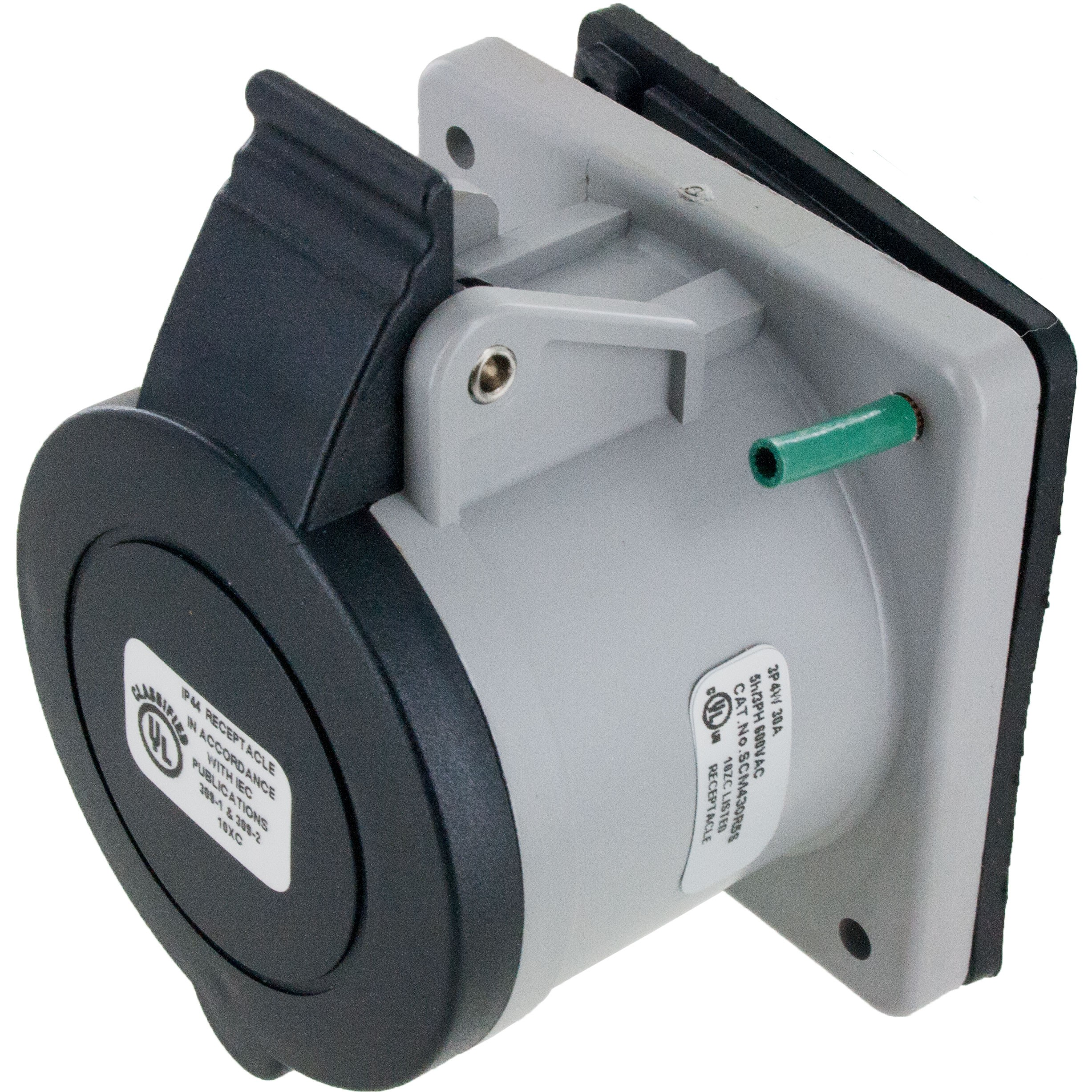 430R5S Pin And Sleeve Receptacle 30 Amp 3 Pole 4 Wire