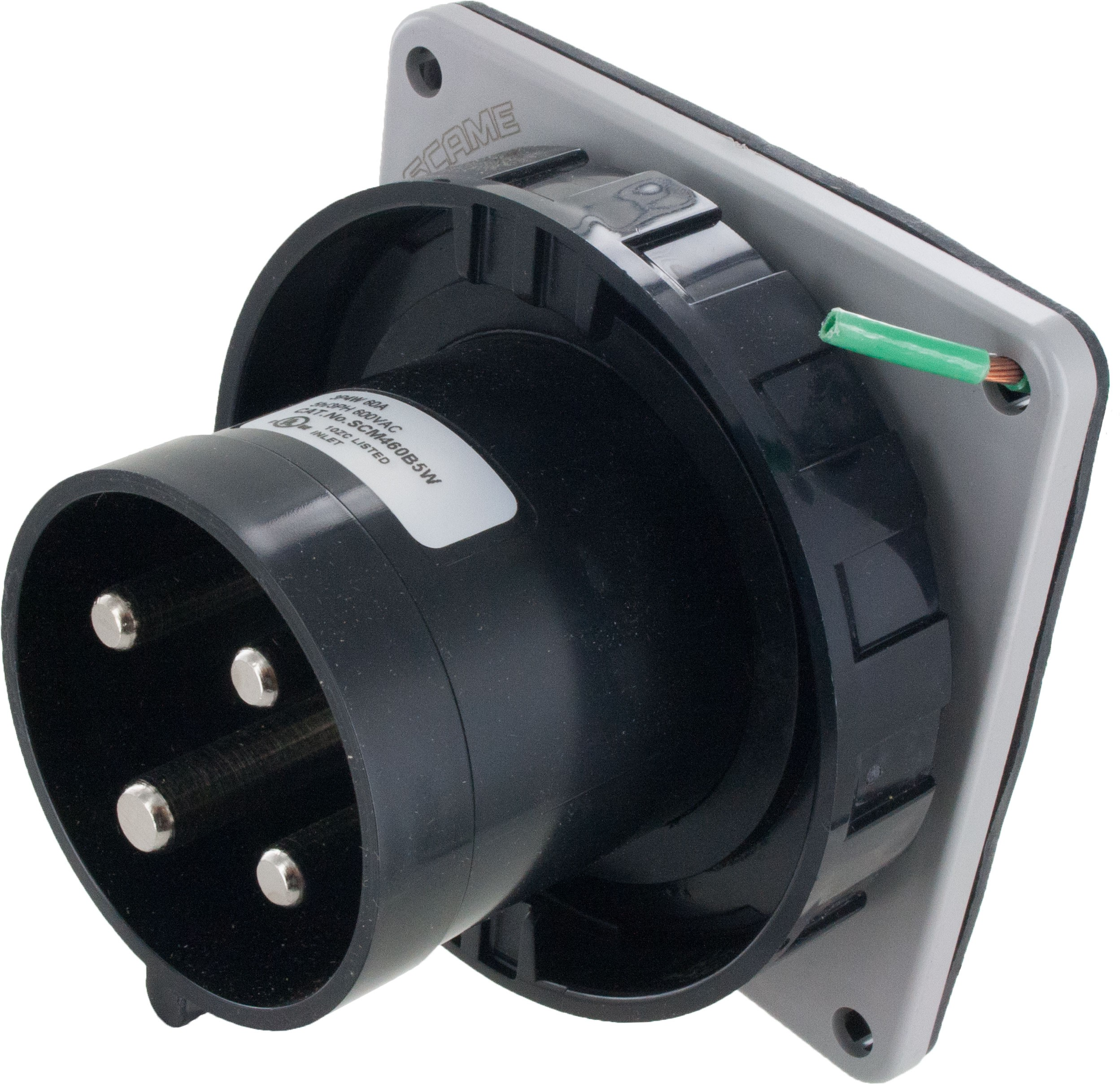 460B5W Pin And Sleeve Inlet 60 Amp 3 Pole 4 Wire