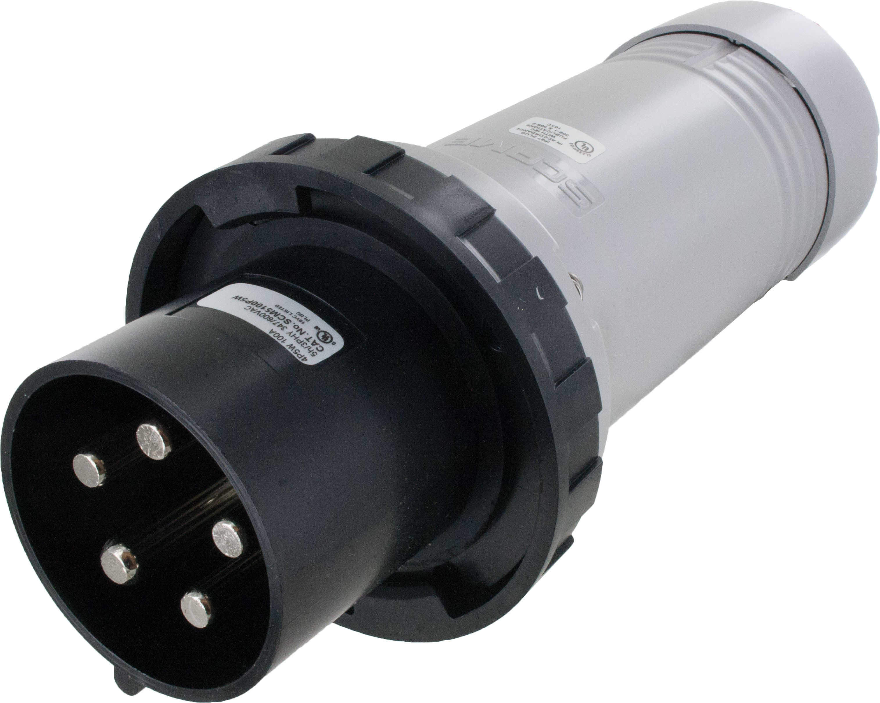 5100P5W Pin And Sleeve Plug 100 Amp 4 Pole 5 Wire