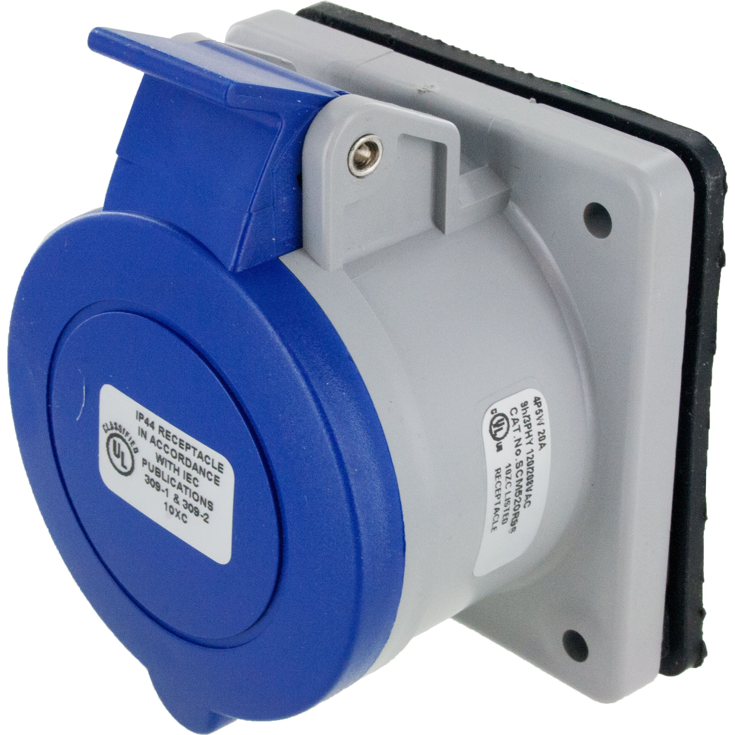 520R9S Pin And Sleeve Receptacle 20 Amp 4 Pole 5 Wire