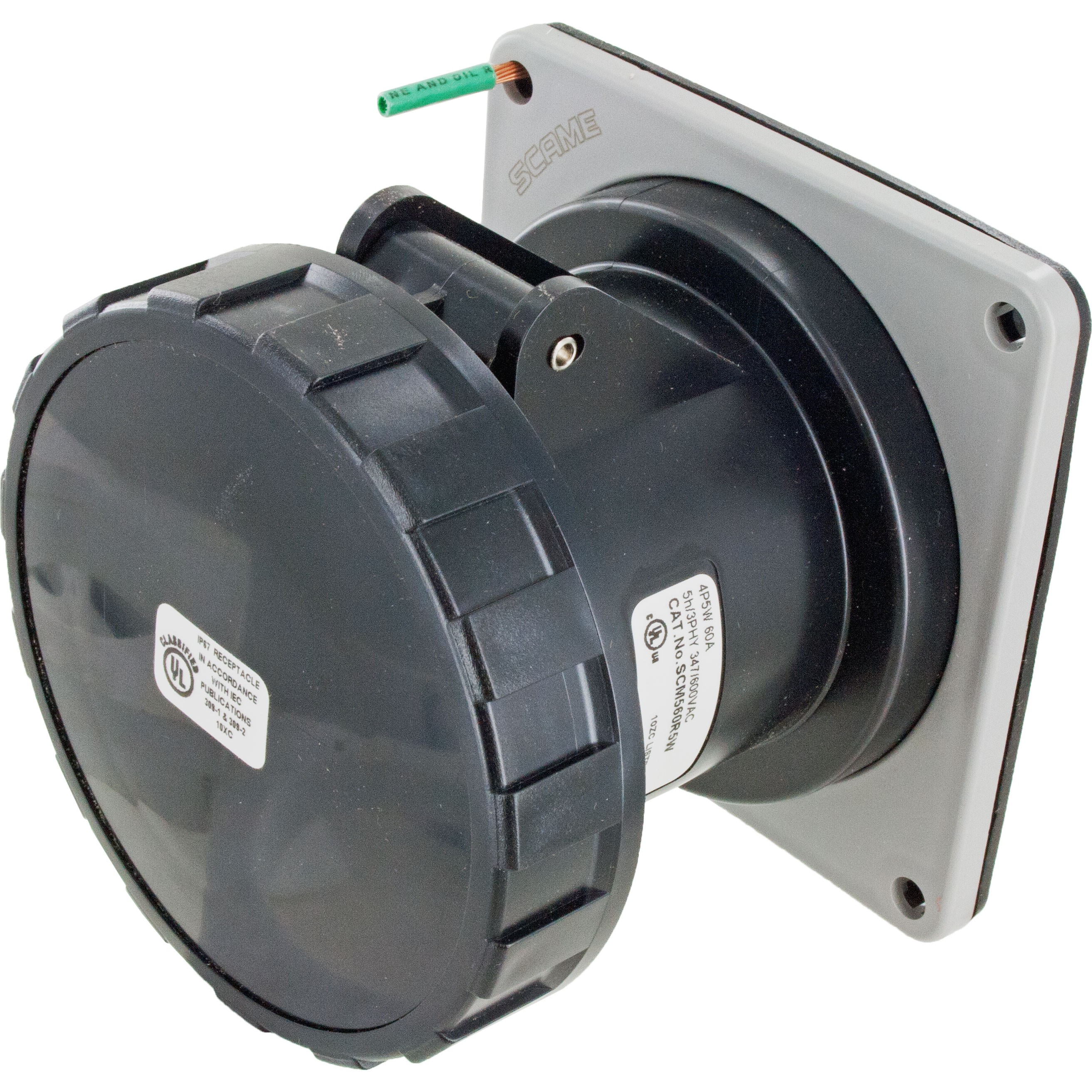 560R5W Pin And Sleeve Receptacle 60 Amp 4 Pole 5 Wire