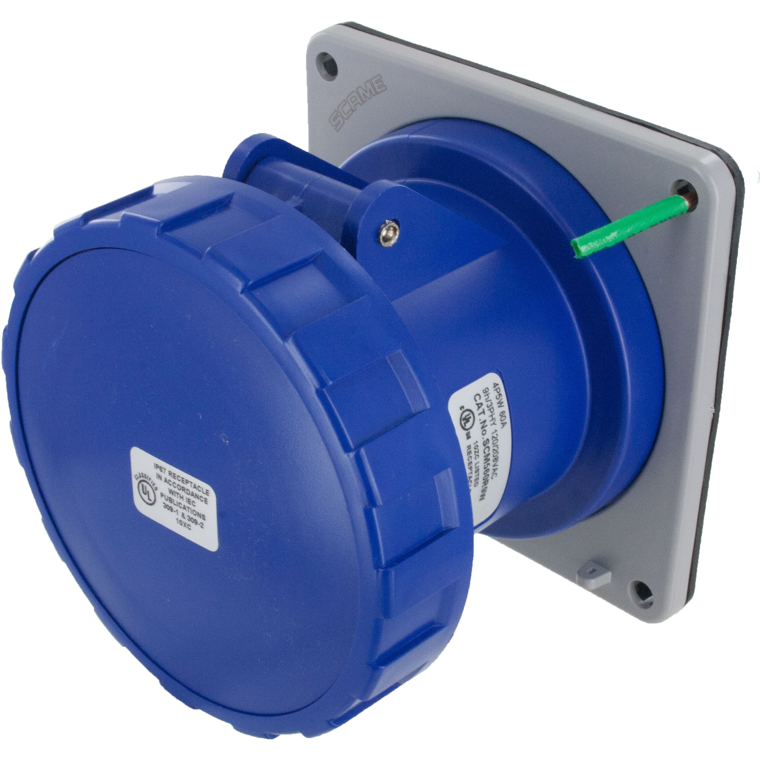 560R9W Pin And Sleeve Receptacle 60 Amp 4 Pole 5 Wire