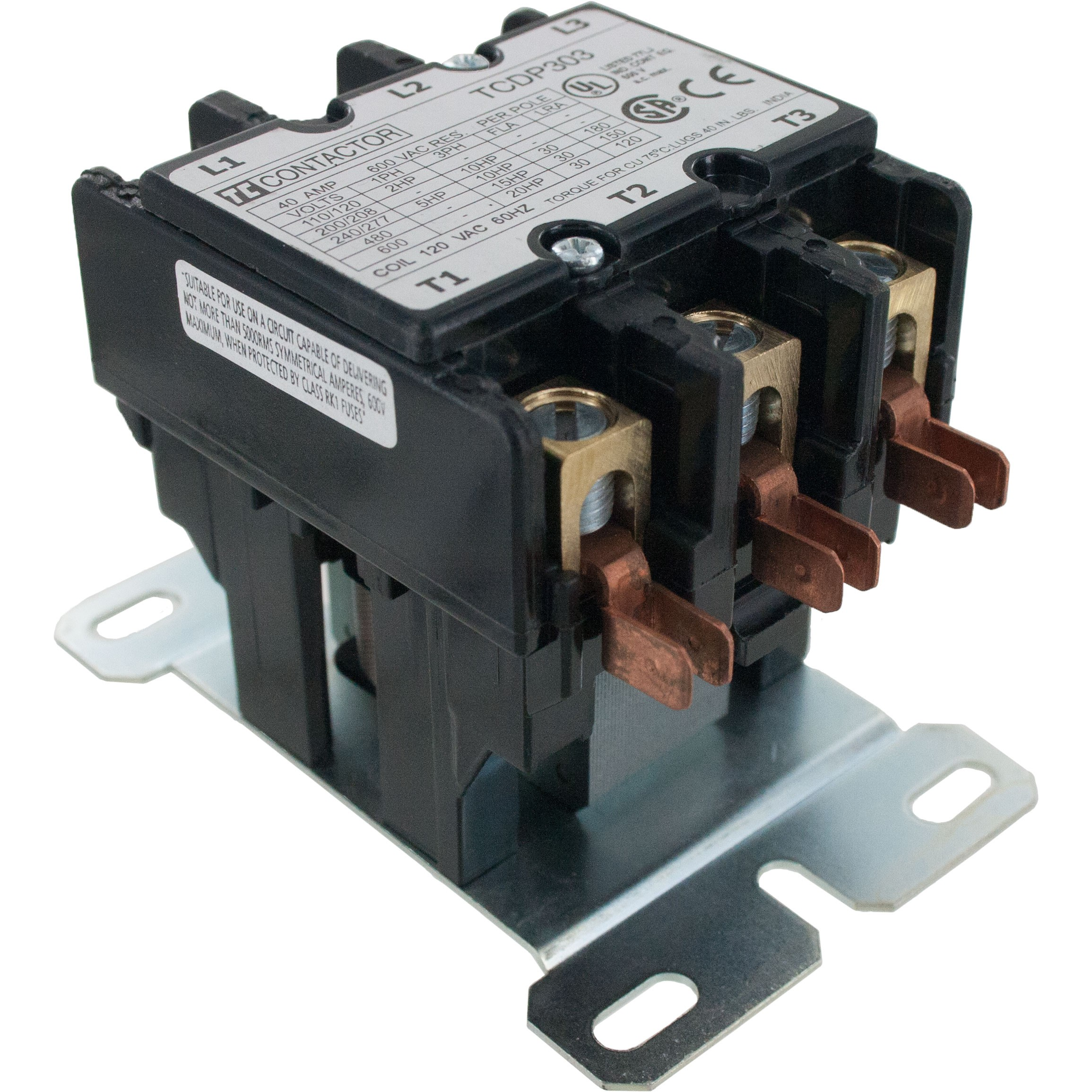 3 Pole Contactor 30 Amp 240VAC Coil