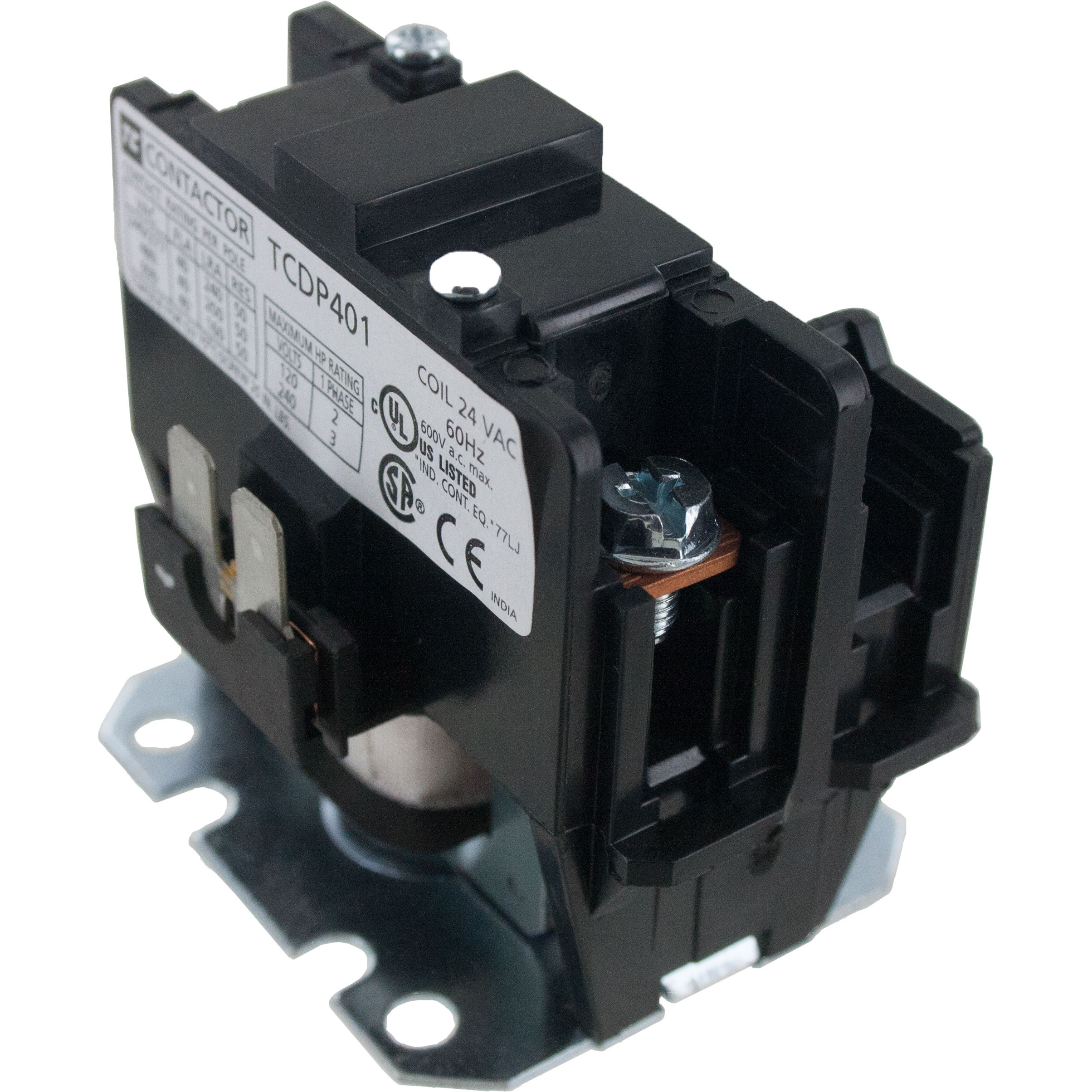 1 Pole Contactor 40 Amp 120VAC Coil