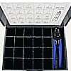 TERMINAL KIT- METAL KIT BOX WITH SCOOP COMPARTMENTS & HTS-1000 CRIMPING TOOL