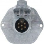 7-Pole Socket Circuit Breaker Mounting Face Plate Solid Pin 11-732
