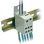 ONE PHASE POWER DISTRIBUTION BLOCK, 125A, INPUT 1x8-2AWG