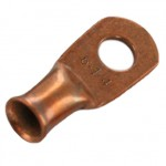 "Unplated Copper Lug 6 Awg 1/4"" 20 Pack"