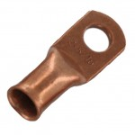 "Unplated Copper Lug 2 Awg 1/4"" 20 Pack"