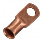 "Unplated Copper Lug 1 Awg 1/4"" 20 Pack"