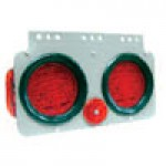 "TRAILER MODULE ASSEMBLY, TWO 4"" DIAMETER ROUND, SIDE MARKER LAMP, REFLECTOR & HARNESS, ROADSIDE (L.H)"