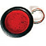 "4"" DIAMETER ROUND, RED, STOP/TURN/TAIL, 56-DIODES, W/GROMMET & PIGTAIL KIT"