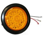 "4"" DIAMETER ROUND, AMBER, TURN/TAIL, 56-DIODES, W/GROMMET & PIGTAIL KIT"
