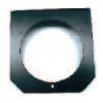 "MOUNTING BRACKET, 4"" ROUND, POWDER COATED STEEL"