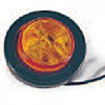 """2"""" DIAMETER ROUND, AMBER, 4-DIODES, W/GROMMET & PIGTAIL KIT"""