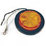 """2.5"""" DIAMETER ROUND, AMBER, 4-DIODES, W/GROMMET & PIGTAIL KIT"""