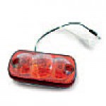 "CLEARANCE/MARKER LAMPS, RED, SQUARE CORNER, 2"" X 4"", 3 DIODES"