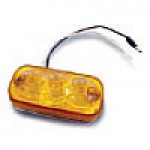 """CLEARANCE/MARKER LAMPS, AMBER SQUARE CORNER, 2"""" X 4"""", 3 DIODES"""