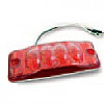 "CLEARANCE/MARKER LAMPS, RED RECTANGULAR, 2"" X 6"", 4 DIODES"