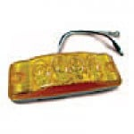"CLEARANCE/MARKER LAMPS, AMBER RECTANGULAR, 2"" X 6"", 4 DIODES"