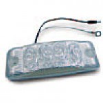 "CLEARANCE/MARKER LAMPS, CLEAR LENS RED RECTANGULAR, 2"" X 6"", 4 DIODES"