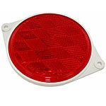 """RED ROUND, 3"""", ABS HOUSING, 2 HOLES"""