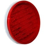 "4"" DIAMETER ROUND, RED, STOP/TURN/TAIL, 56-DIODES, DOUBLE CONTACT"