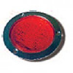 "4"" DIAMETER ROUND, RED, STOP/TURN/TAIL, 56-DIODES, W/S.S. FLANGE"