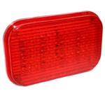"4"" X 6"" RECTANGULAR, RED, STOP/TURN/TAIL, 60-DIODES, DOUBLE CONTACT"