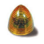 """2.5"""" DIAMETER BEEHIVE, AMBER, 8-DIODES, SINGLE CONTACT"""