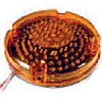 "7"" DIAMETER ROUND, BUS LAMP, AMBER, TAIL, 80-DIODES, SINGLE CONTACT"