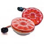 """STOP & TAIL LAMPS, STOP/TURN/TAIL, RED, ROUND 4"""", 15 DIODES"""