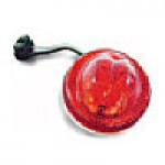 "CLEARANCE/MARKER LAMPS, RED, 2 1/2"" ROUND, 2 DIODES"
