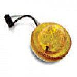 "CLEARANCE/MARKER LAMPS, AMBER, 2 1/2"" ROUND, 2 DIODES"