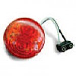 """CLEARANCE/MARKER LAMPS, RED, 2"""" ROUND, 2 DIODES"""