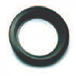 "MOUNTING GROMMET, BLACK, 4"" ROUND, OPEN BACK"