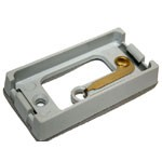 """ADAPTER MOUNT FOR RECTANGULAR 1"""" X 2"""", GREY, W/BUILT IN GROUND CONNECTION, 1 BULB, SEALED UNIT, ABS"""