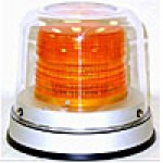 "INCANDESCENT, AMBER, 7 1/2"" H X 8 3/4"" ALUMINUM BASE, MOUNTING BRACKET, DUST COVER, 12-48 VOLTS, 2-3 AMPS"