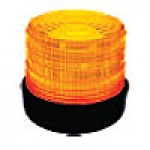 "JUNIOR- LOW PROFILE, AMBER, 4 7/8"" X 5 7/8"", RUBBER BASE, SURFACE MOUNT, 24VDC"