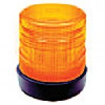 "HIGH INTENSITY- LOW PROFILE, AMBER, 5 3/4""HIGH X 5 3/4"", RUBBER BASE, SURFACE MOUNT, 12-48VDC"