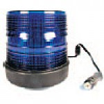 "HIGH INTENSITY- LOW PROFILE, BLUE, 6""HIGH X 5 3/4"", RUBBER BASE, MAGNETIC  MOUNT, 12-48VDC"