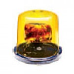 "PARABOLIC REFLECTOR- LOW PROFILE, AMBER, 6 7/8""HIGH X 8"", ABS BASE, SURFACE MOUNT, 12VDC"